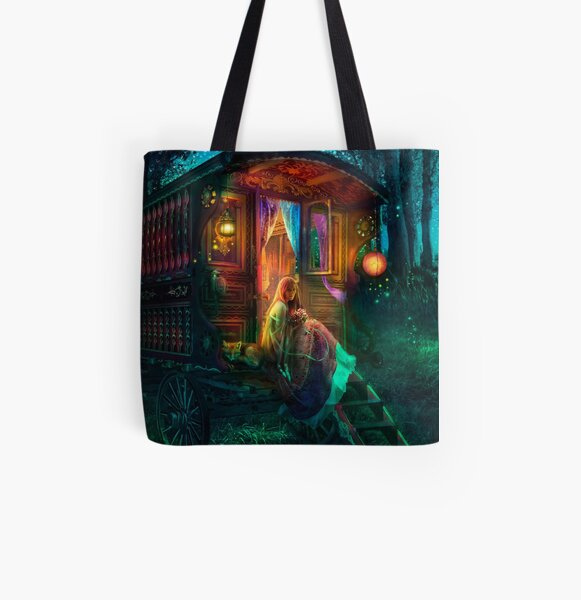 Gypsy Firefly All Over Print Tote Bag