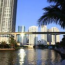 Sunset on the Miami River by Yajhayra Maria