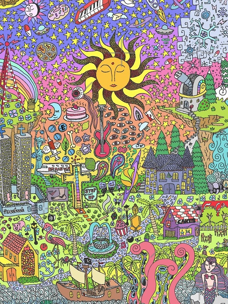PSYCHEDELIC SUNSET by azzurroarts