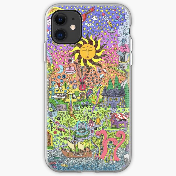 PSYCHEDELIC SUNSET iPhone Soft Case