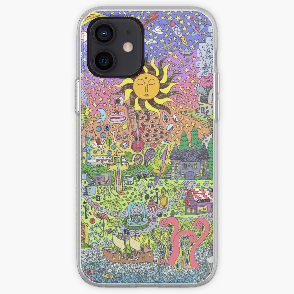 PSYCHEDELIC SUNSET iPhone Case & Cover