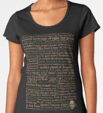Camiseta premium de cuello ancho Shakespeare Insults Dark - Edición revisada (por incógnita)