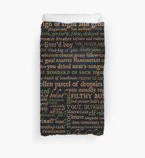 Shakespeare Beleidigungen dunkel - überarbeitete Ausgabe (von incognita) Bettbezug