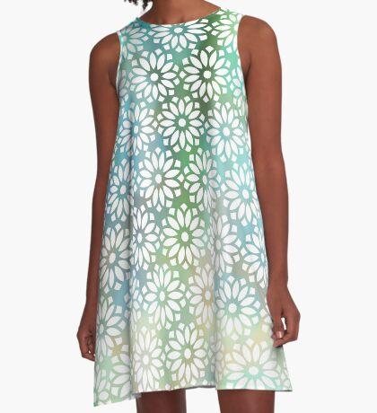 Lotus Screen A-Line Dress