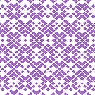 Abstract geometric pattern - purple and white. by kerens