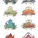 The Wheel of the Year: teapots by Julia Nikitina
