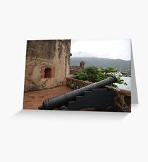 Cannon from Fort San Felipe in Puerto Plata, DR Greeting Card