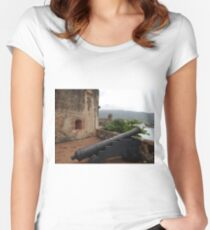 Cannon from Fort San Felipe in Puerto Plata, DR Women's Fitted Scoop T-Shirt