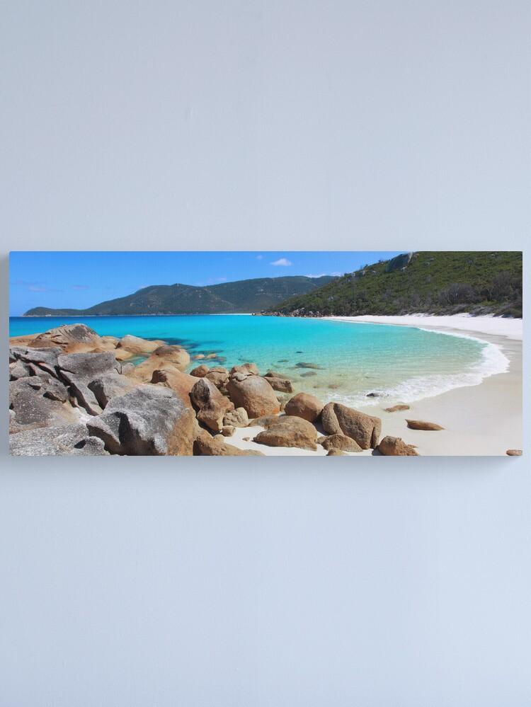 Alternate view of Little Waterloo Bay, Wilsons Promontory, Victoria, Australia Canvas Print