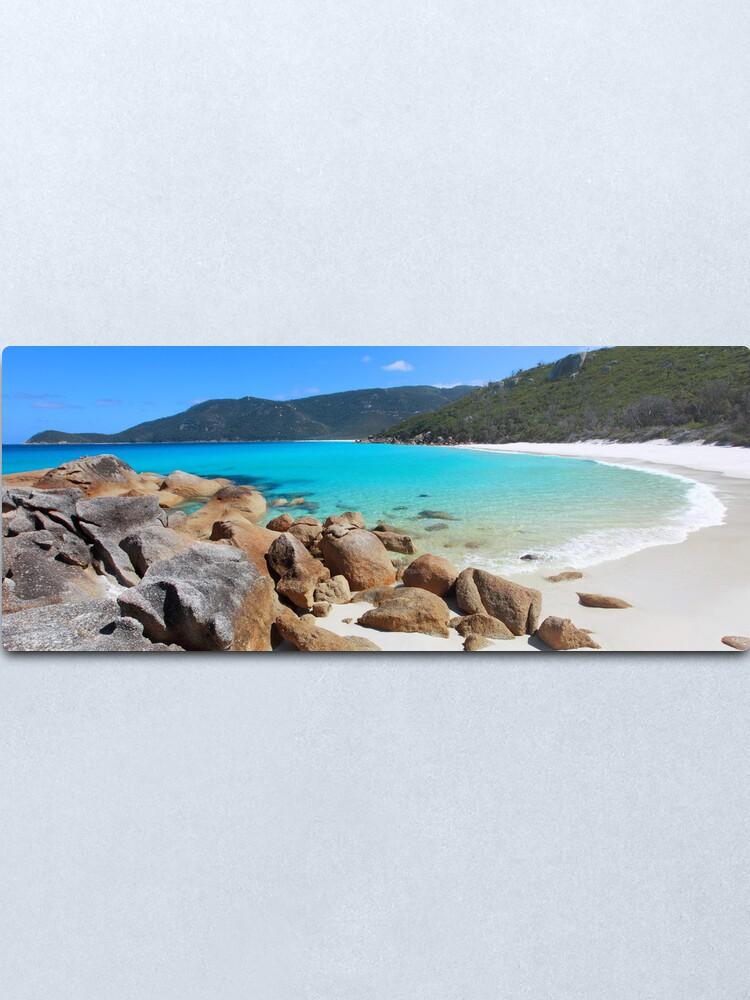 Alternate view of Little Waterloo Bay, Wilsons Promontory, Victoria, Australia Metal Print