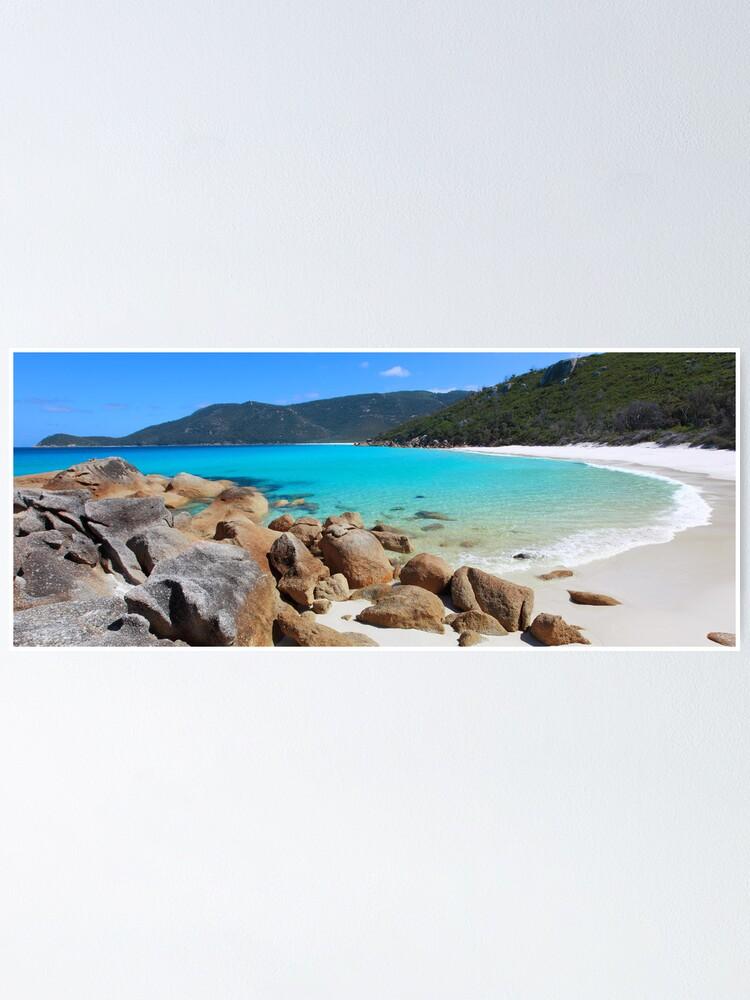 Alternate view of Little Waterloo Bay, Wilsons Promontory, Victoria, Australia Poster