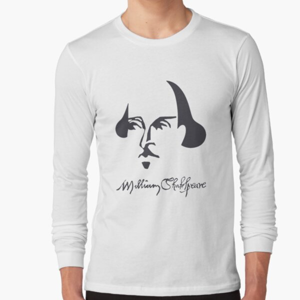 Shakespeare Simple Image with Signature Long Sleeve T-Shirt