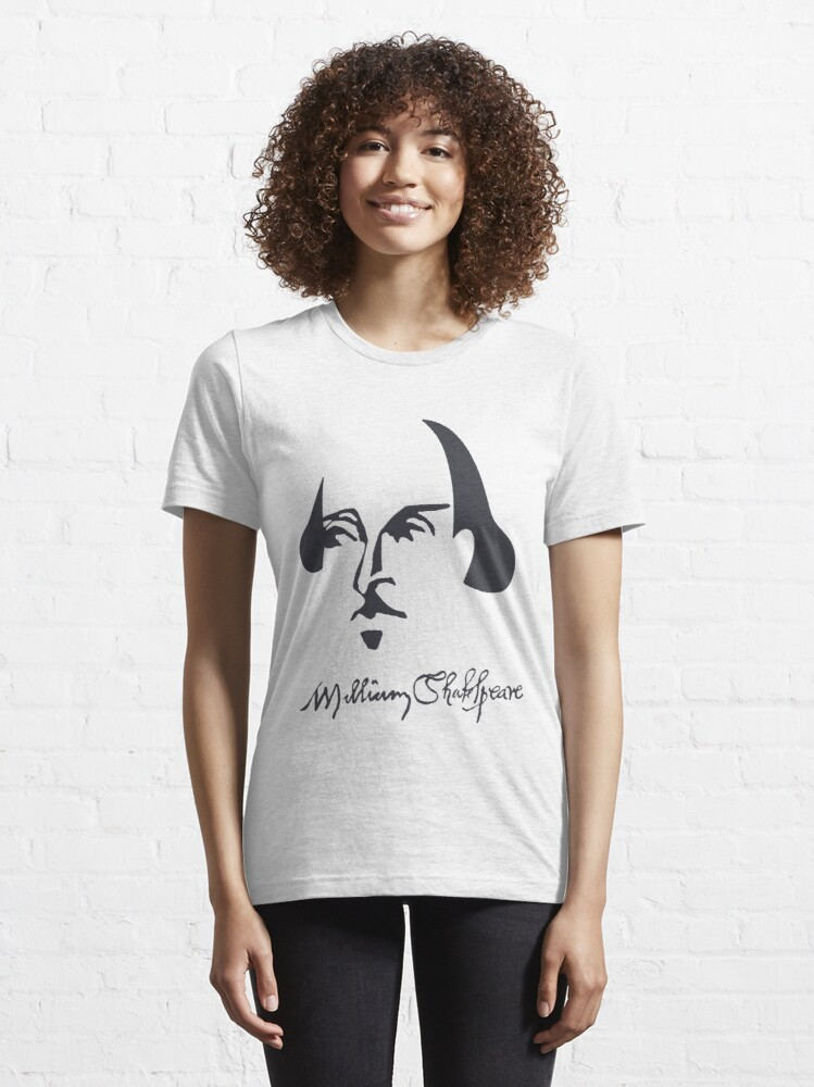 Alternate view of Shakespeare Simple Image with Signature Essential T-Shirt