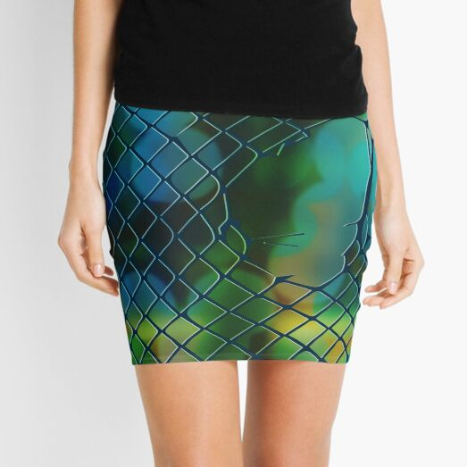 Fishnet Scales Dark Mini Skirt