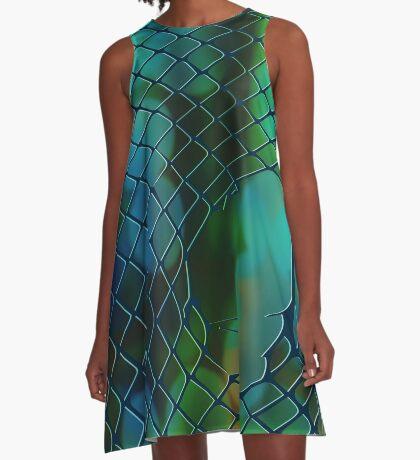 Fishnet Scales Dark A-Line Dress
