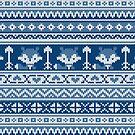 «Fair Isle Fox Blue - White» de miavaldez