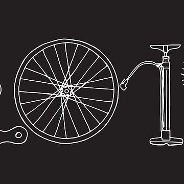 Hand drawn bicycle 2019 Happy New Year vector in black and white	 by Yomanow