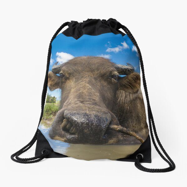 Carabao, Elnido, Palawan, Philippines Drawstring Bag