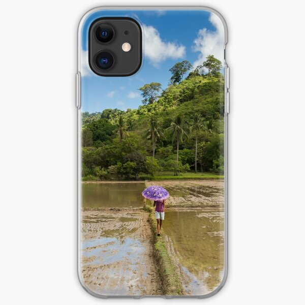 Rice Paddy, Elnido, Palawan, Philippines iPhone Soft Case