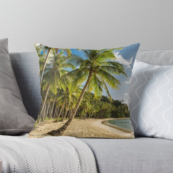 Beach, Elnido, Palawan, Philippines Throw Pillow