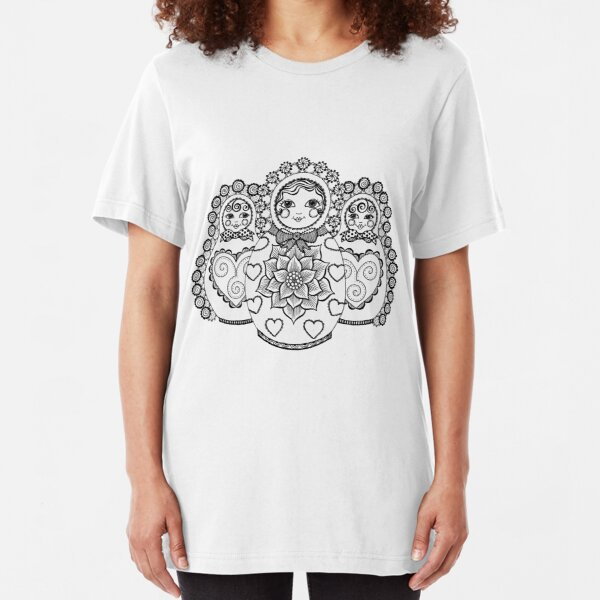 Valley of the Russian Dolls Slim Fit T-Shirt