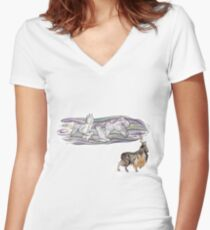 Keeper of Skies II Women's Fitted V-Neck T-Shirt