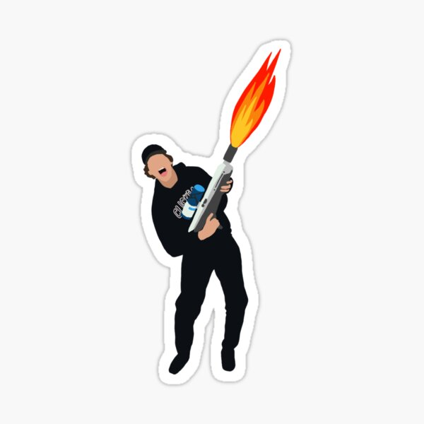 David Dobrik FLAMETHROWER Sticker