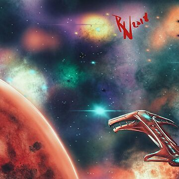 Space Red Planet Sci Fi by Energetic-Mind