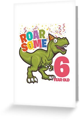 6th Birthday Dinosaur Design