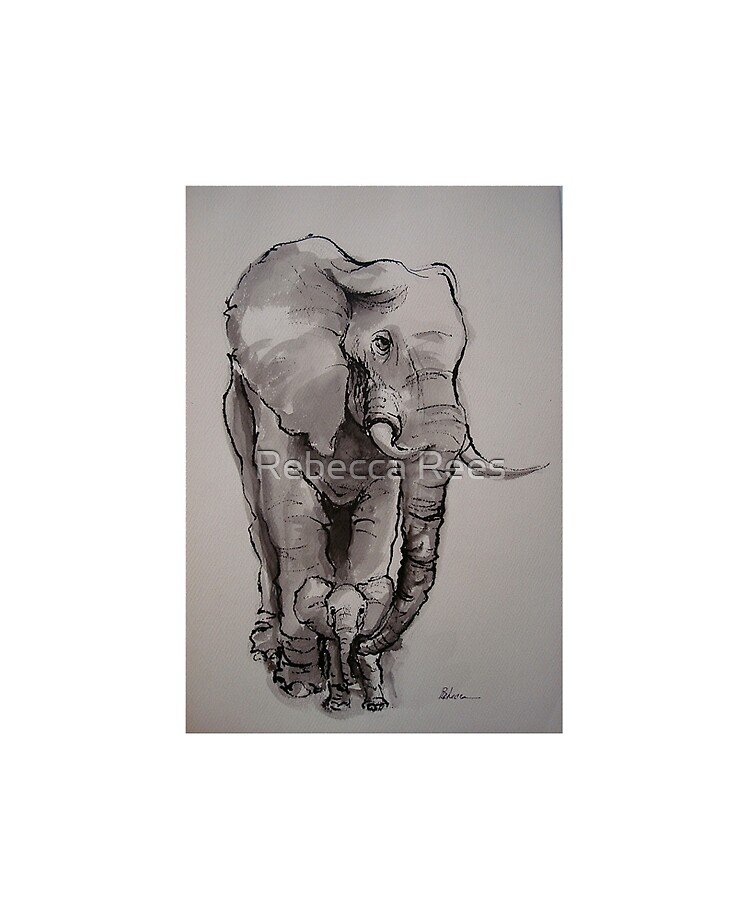 Reproduction Haut de Gamme Elephant Mother with Child de Olha Darchuk Poster 30 x 40 cm Nouveau Poster