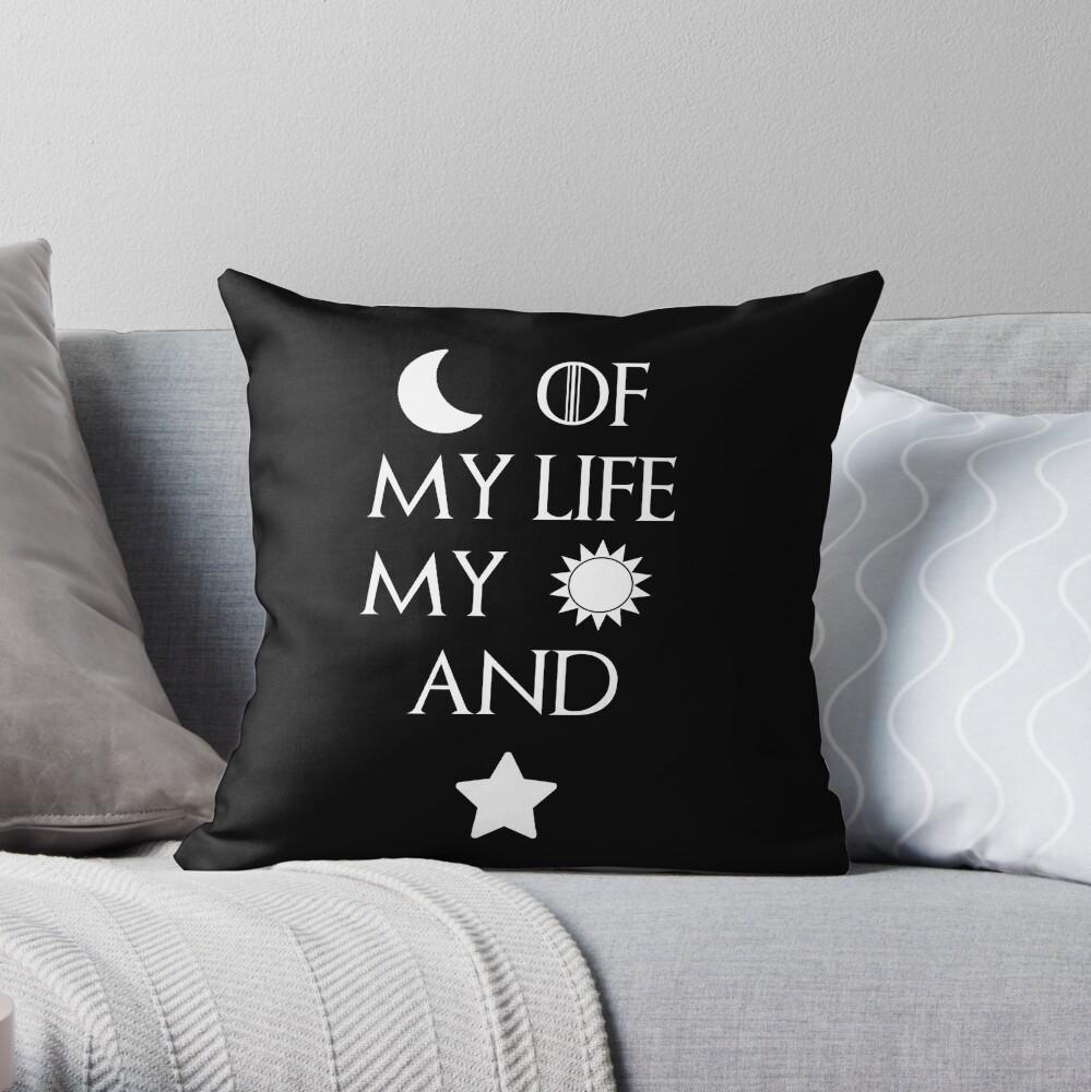Moon of my life my sun and stars Throw Pillow