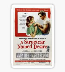 Classic Movie Poster - A Streetcar Named Desire Sticker