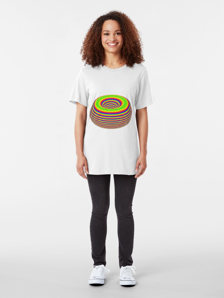 Alternative Ansicht von TORUS - Psychedelic Surface Slim Fit T-Shirt