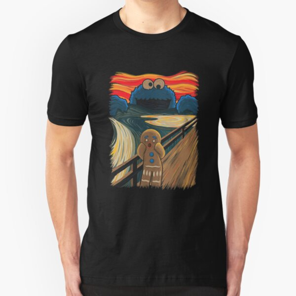 Gingerbread The scream gingerbread man Slim Fit T-Shirt