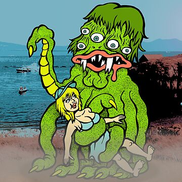 Sea Monster And Girl by RossRadiation