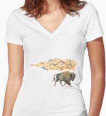 Keeper of Lands I Women's Fitted V-Neck T-Shirt