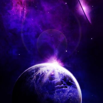 Purple Galaxy Planet by Harou
