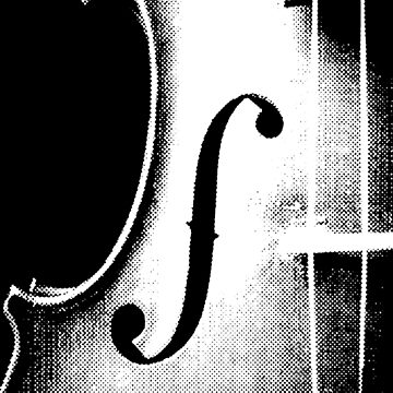 Halftone Close-up Violin by wordznart