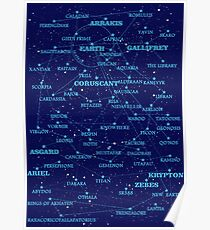 Sci-fi star map Poster