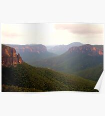 Govetts - Govetts Leap, Blue Mountains World Heritage Area - The HDR Experience Poster