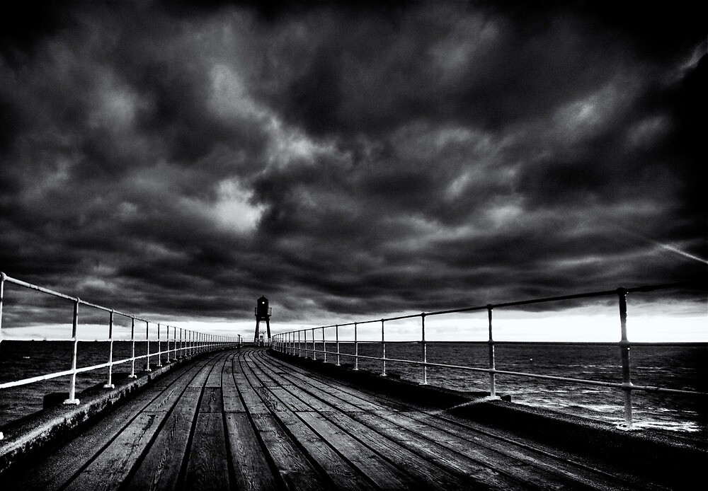 Stormy Pier - 6am by Rory Garforth