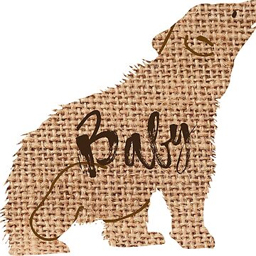 Baby Bear Burlap Graphic by peaktee