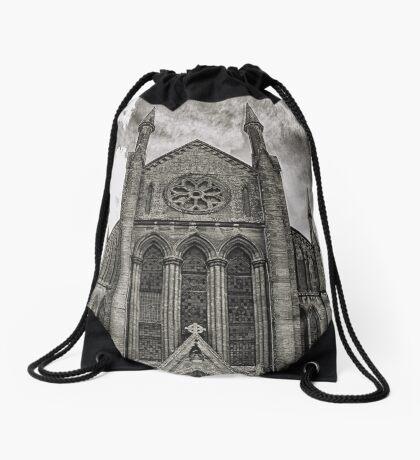 Cheap Street Church Drawstring Bag