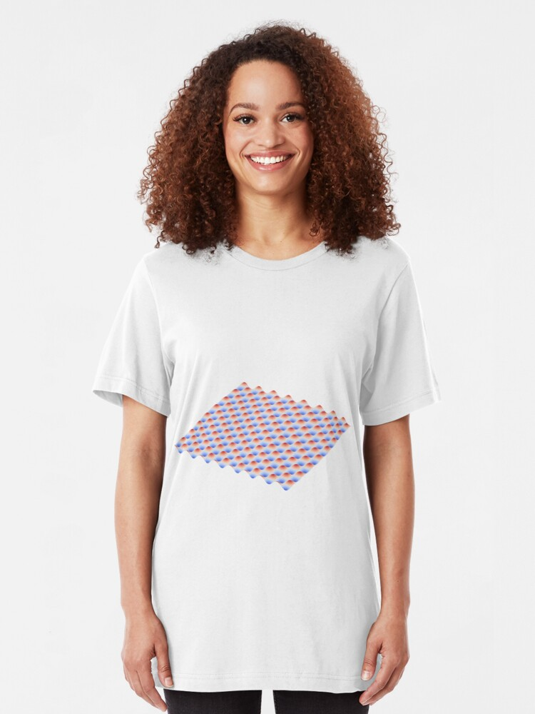 Alternative Ansicht von Sinus Landschaft - 3D Plot Slim Fit T-Shirt