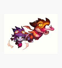 Lámina artística Dragon Trainer Tristana - League of Legends
