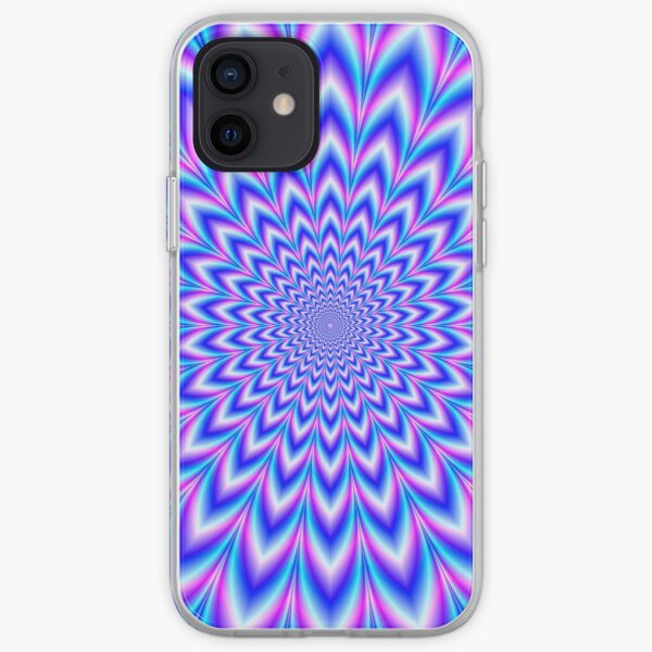 Psychedelic Pulse in Blue and Pink iPhone Soft Case
