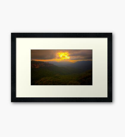 Light In The Valley - Blue Mountains World Heritage Area, Sydney Australia -The HDR Experience Framed Print
