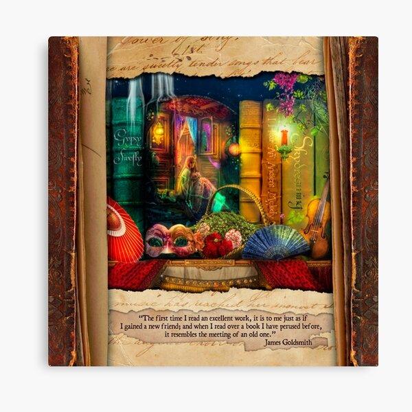 The Curious Library Calendar - March Canvas Print