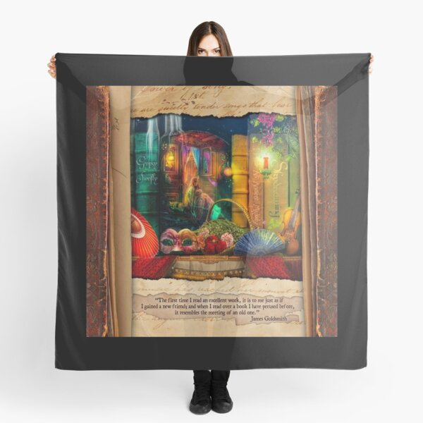 The Curious Library Calendar - March Scarf