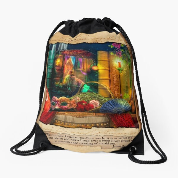 The Curious Library Calendar - March Drawstring Bag